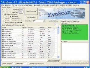 Evoscan Screen Image